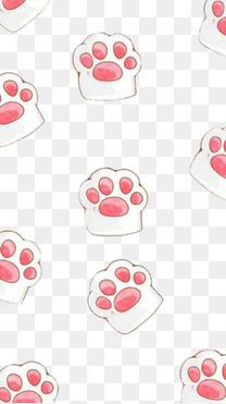 可爱猫爪平铺免抠素材