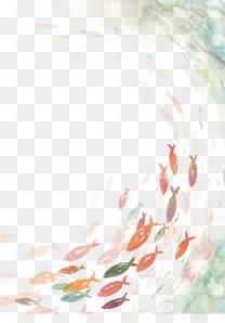 鱼来鱼往图片素材