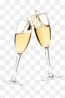 香槟干杯酒杯免抠图片