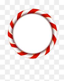 圣诞红白相间圆环