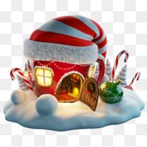 时尚圣诞装饰元素