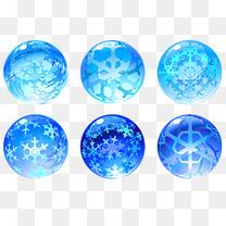 雪花玻璃球插画素材矢量