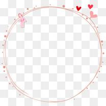 手绘线条圆形环