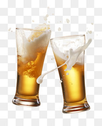 黄色啤酒碰杯