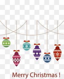 几何花纹圣诞球挂饰