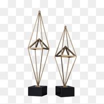 金属几何摆件