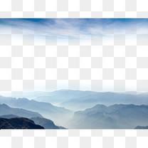 云雾山水背景