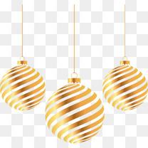 圣诞元旦金色圆球