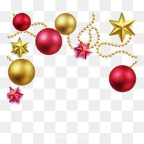 矢量节日装饰圣诞彩球
