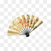 日式梅花折扇