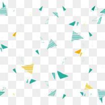 漂浮几何三角图片素材