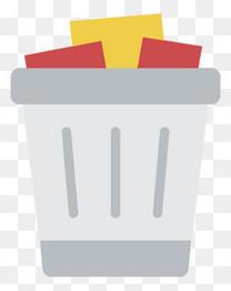 灰色垃圾桶