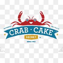 螃蟹蛋糕美食logo图片