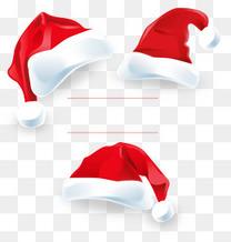 3个立体圣诞帽