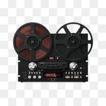 黑色的录音用品