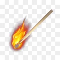 火柴装饰素材