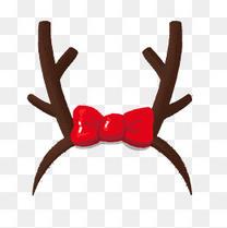 圣诞节麋鹿角圣诞帽免抠素材