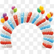 矢量手绘气球拱形门