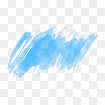 蓝色水彩喷绘涂鸦