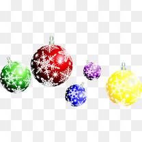 圣诞彩球矢量素材