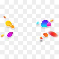 渐变不规则漂浮圆形渐变绚丽元素