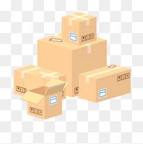 黄色纸箱货物箱子