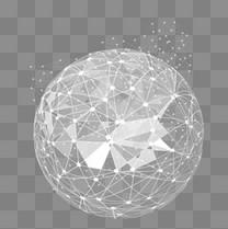 线条几何矢量地球图案