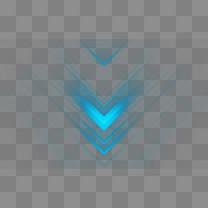 蓝色光效箭头