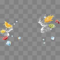 漂浮的水果