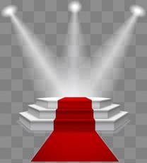 舞台灯光红地毯