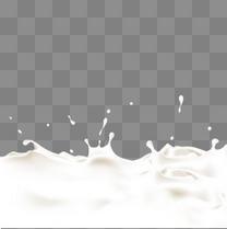 溅起的液态牛奶矢量PSD素材