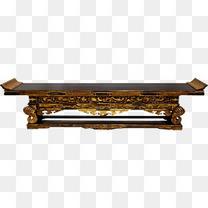 古代木质桌案免抠素材