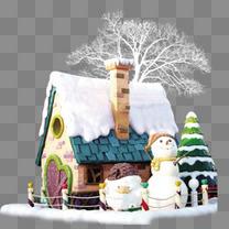 雪人圣诞元素