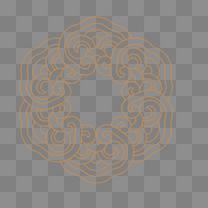 中式雕花矢量纹样