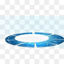 蓝色科技圆形底盘免费素材