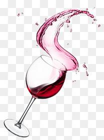 飞溅的红酒红酒杯
