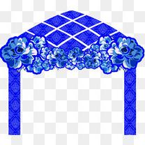 婚礼蓝色拱门