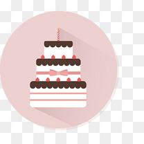 扁平化生日蛋糕设计矢量素材