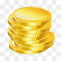 一摞金币素材图片
