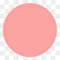 矢量手绘粉色圆环