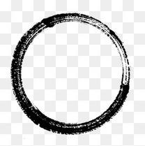圆细镂空毛笔圈