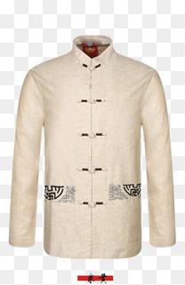 米白色唐装中国风男士上衣