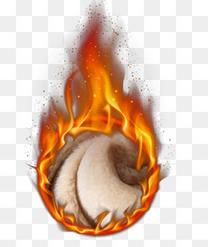 圆形火焰加绒免抠素材下载