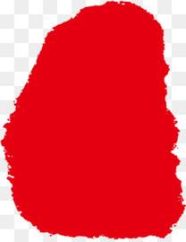 不规则几何形状红色印章
