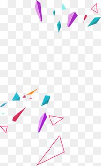 几何体彩色石块不规则漂浮