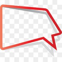 矢量红色简约线条对话框