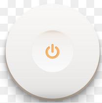 白色简约开关按钮