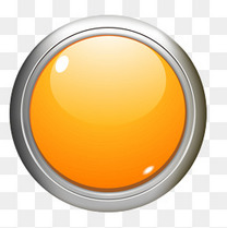 黄色质感圆形按钮