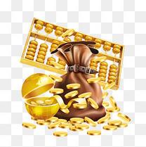 金色金融装饰图片