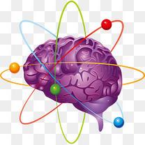 矢量紫色创意头脑风暴